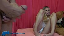 CFNM Dick-Flashing for Blonde College Coed in a...