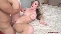 Hot blonde MILF stepmom Kayla Paige seducing an...