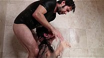 Brandi Aniston roughly face-fucked in the shower صورة
