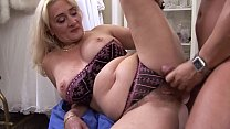Mature blonde Petra Eagle with hairy pussy real...