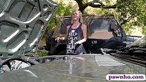Tight amateur blonde slut drive test her car wh...