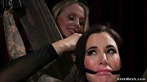Huge tits blonde Milf mistress canes feet and a...