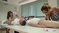 September exams. Trainee teacher l. gives some ...
