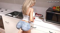 My Cute Roommate   Blonde stepsister with a big...