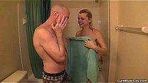 cumblast-Handjob in the shower