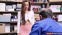 Teen babe is caught by security masturbating in...