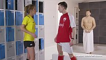 Stunning Blonde Alexis Crystal is a Football So...
