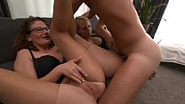 VISIT-X | A Milf and a German blonde get double...