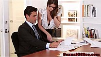 Sexy Secretary brooklyn chase gets banged by he...