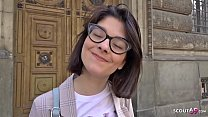 GERMAN SCOUT - Erster Arschfick fuer schlankes Teen Sara fuer Geld