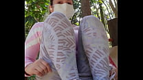 Showing my pussy at the park.... full video on ...