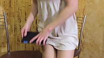 Fucking a Russian student in the kitchen and cu...