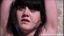 Degrading enslaved maso bitch Louise in bound p...