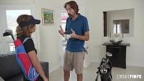 Destiny Cruz is prepared by Golf Instructor Ste...