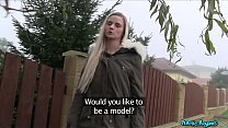 Public Agent Katy Pearly having sex with a stra...