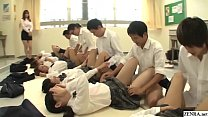 Future Japan mandatory sex in school featuring many virgin schoolgirls_having missionary sex with classmates to help raise the population in HD with English subtitles Thumbnail