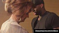 Busty Brunette Cougar Deauxma seduces a hotel b...