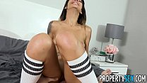 Busted stealing hot brunette roommate babe with...