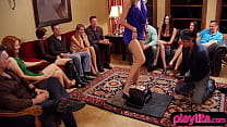 Real amateurs going to a swinger club for a ride