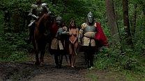 La strega e il monaco con il cavaliere