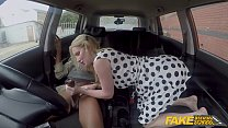Fake Driving School British Blonde with Big Natural Boobs Interracial Thumbnail