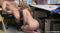 Blonde teen rides her tight teen pussy on top o...