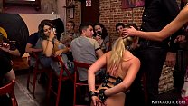 Blonde beauty d. in public then moved in bar wh...