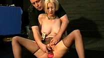 Bizarre humiliation of Cherry Torn in painful b...