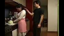 Watch Hot Japanese Asian Mom fucks her Son in Kitchen preview