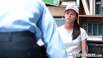 Beautiful Chick Spotted Shoplifting Bangs Secur...
