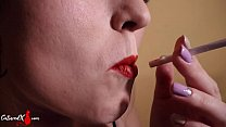 Pretty Woman Smoked, Blowjob Cock and Cum on Face