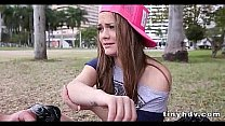 Petite tiny girl drilled Monica Rise 91