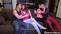 Young Sex Parties - Two hot teen chicks and two...