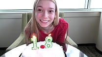This skinny blonde just turned 18 a few days ago