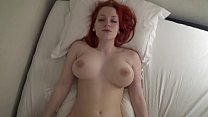 Young and pale redhead loves cum in her pussy -...
