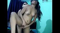 Indian threesome fun 2 big pussy 1 big dick Thumbnail
