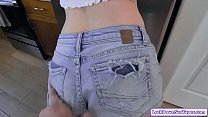 Small tits babe persuades her stepdad to go gro...