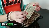 TeenPies Pizza Guy fills redhead Natalie Lust's...