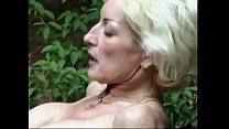 Milf blonde was fucked by a young cock at picni...