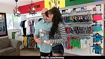 Sexy exhibitionist GFs are paid cash for some p...