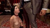 Alpha slave Veruca James and brunette Asian Ang...