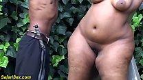 extreme fat african bbw milf gets creamed licke...