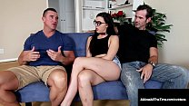 Dark haired young nerd, Whitney Wright takes a ...