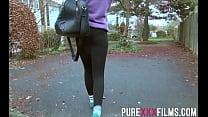 Tall and sexy brunette goddess Alessa Savage ge...