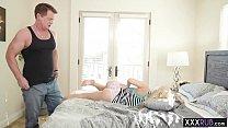 Perverted stepdad massage and satisfy petite bl...
