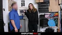 Hot Petite Blonde MILF Caught Shoplifting Jewel...