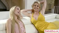 Teen stepdaughter and her busty stepmom are on ...