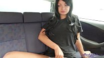 Brunette Masturbate Pussy and Orgasm in the Car