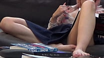 Youtuber, Upskirt and lots of pussy lips oops a...
