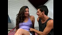 Randy babe gets double penetrated then takes cu...